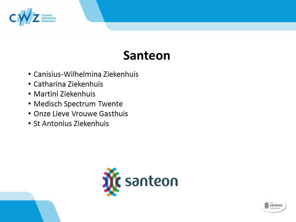 Santeon Canisius-Wilhelmina Ziekenhuis Catharina Ziekenhuis Martini Ziekenhuis Medisch Spectrum Twente Onze Lieve Vrouwe Gasthuis St Antonius Ziekenhuis