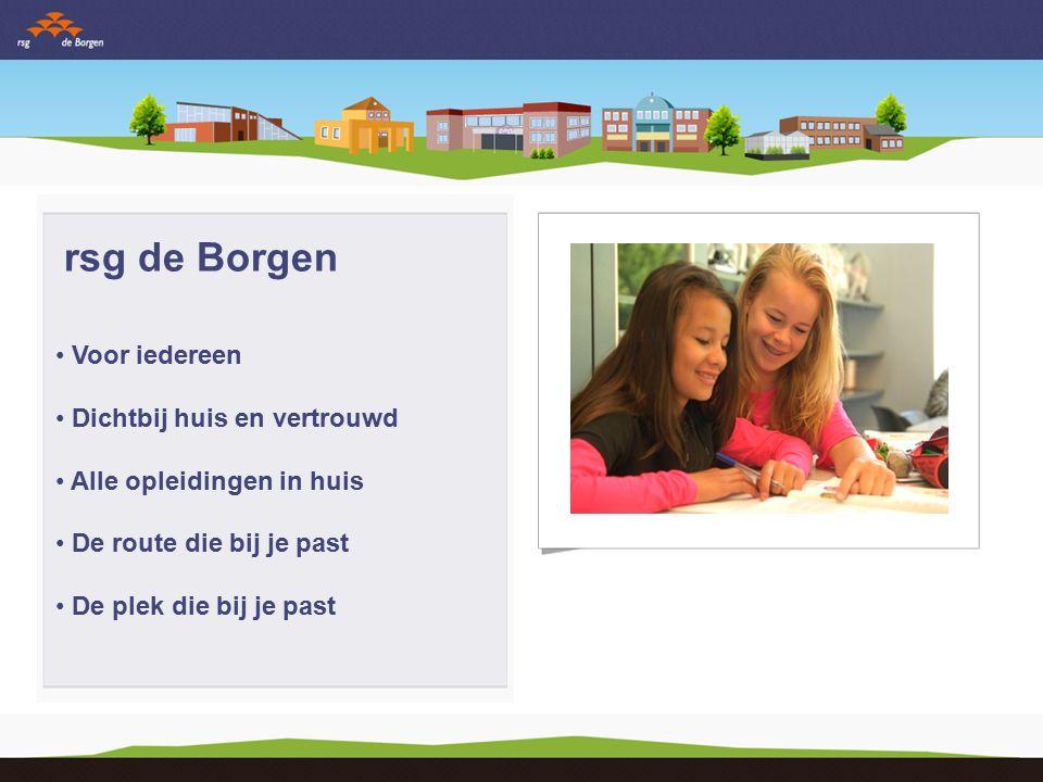 rsg de Borgen Begeleiding: Leren leren Leren kiezen Leren leven Mentor
