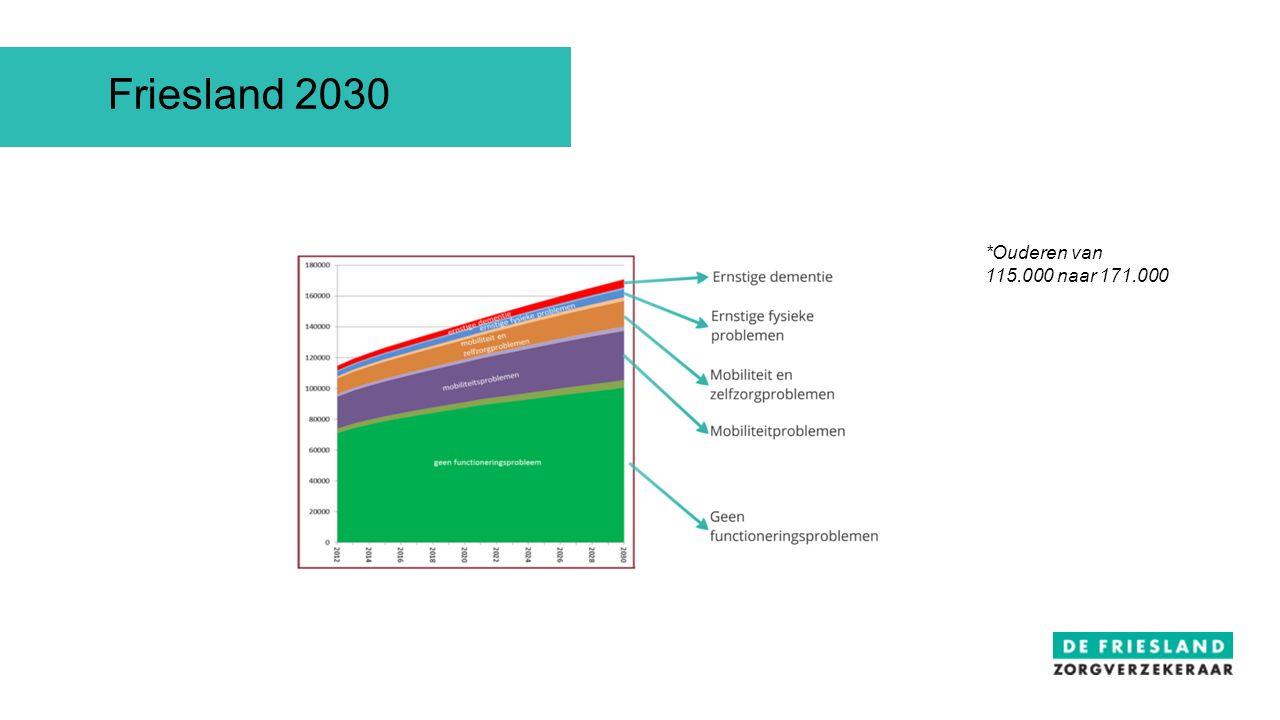 *Ouderen van 115.000 naar 171.000 Friesland 2030