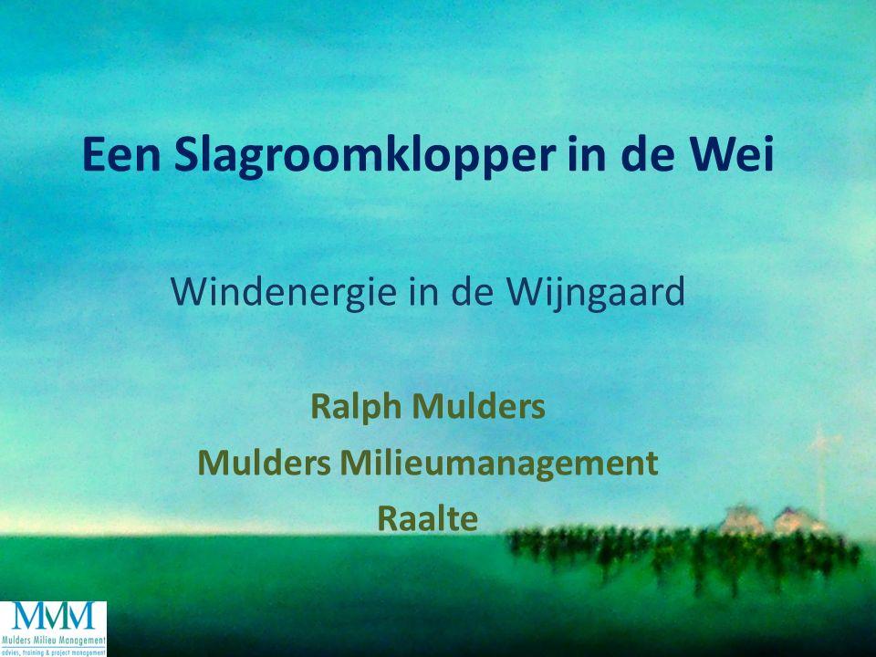 Een Slagroomklopper in de Wei Windenergie in de Wijngaard Ralph Mulders Mulders Milieumanagement Raalte