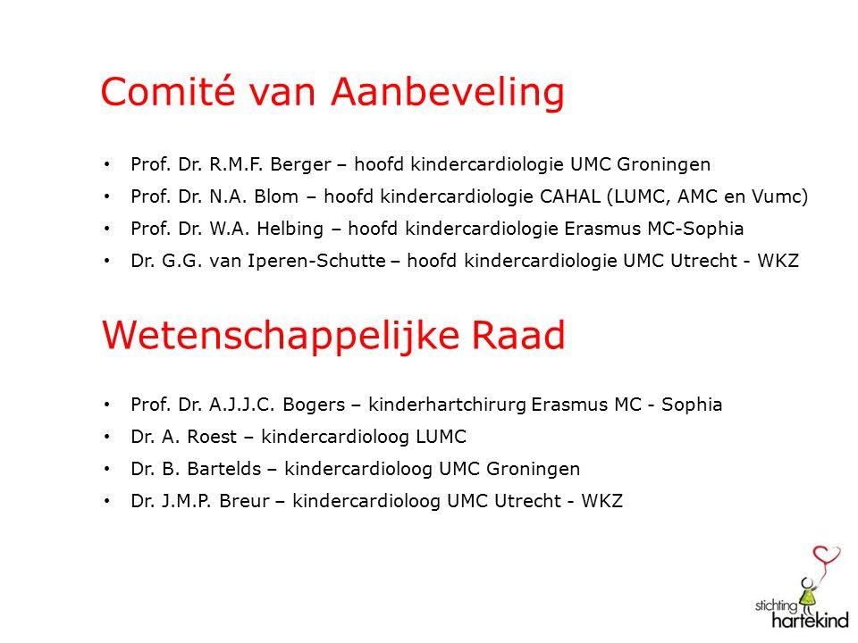Comité van Aanbeveling Prof. Dr. R.M.F. Berger – hoofd kindercardiologie UMC Groningen Prof.