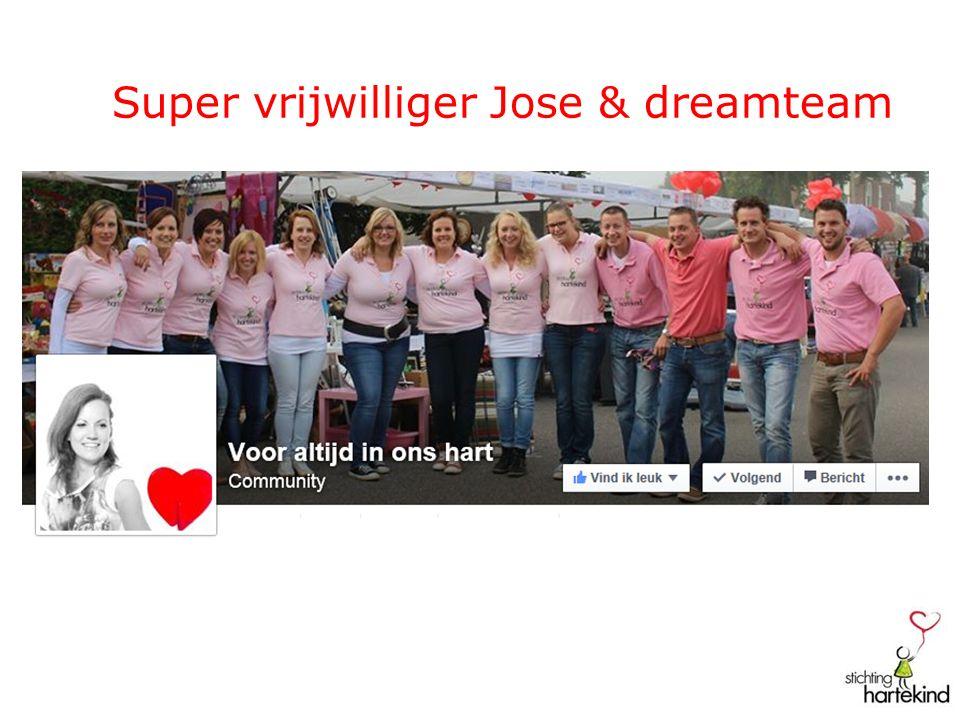 Super vrijwilliger Jose & dreamteam
