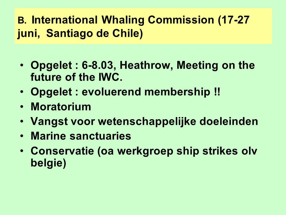 C.Ad Hoc Working Group on Marine Biodiversity in Areas Beyond National Jurisdiction (ABNJ), New York, 28.04-2.05 Mandaat rechtstreeks onder Algemene Vergadering Tweede meeting 8.04-2.05 Eerste discussiepunt : moet voor ABNJ er al of niet een dochterverdrag van UNCLOS worden onderhandeld.