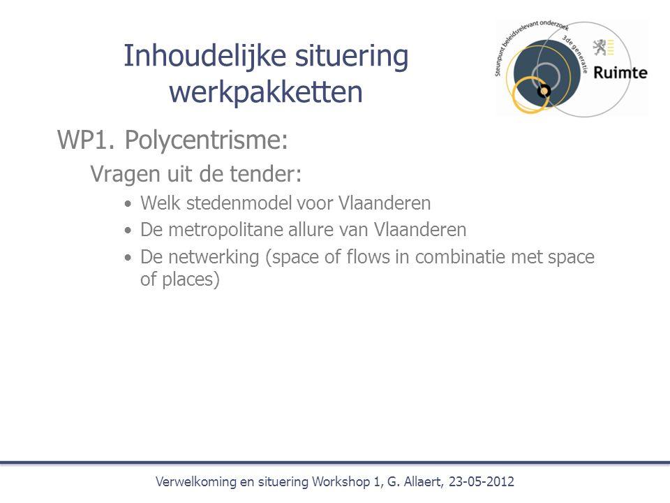 Inhoudelijke situering werkpakketten WP1.