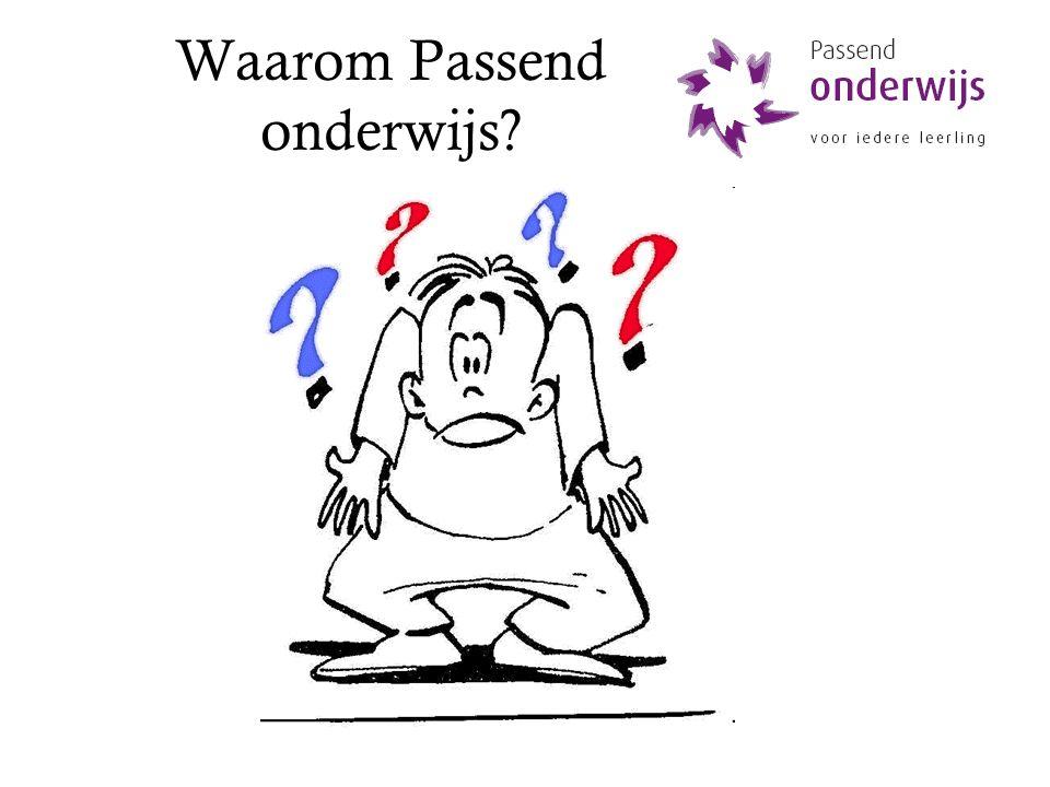 functioneel verbinden SWV'en + cluster 3 en 4 SO met PO VSO met VO Afspraken met: Cluster 1 en 2 Externe partners www.passendonderwijs.nl