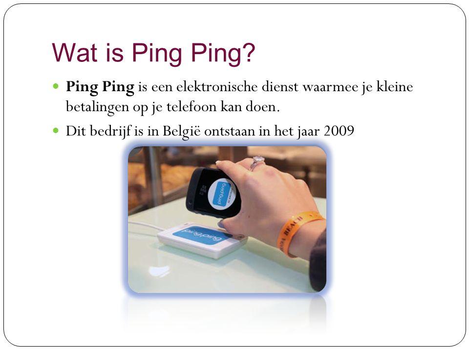 Ping Ping Wat is Ping ping. Wat doet Ping ping.