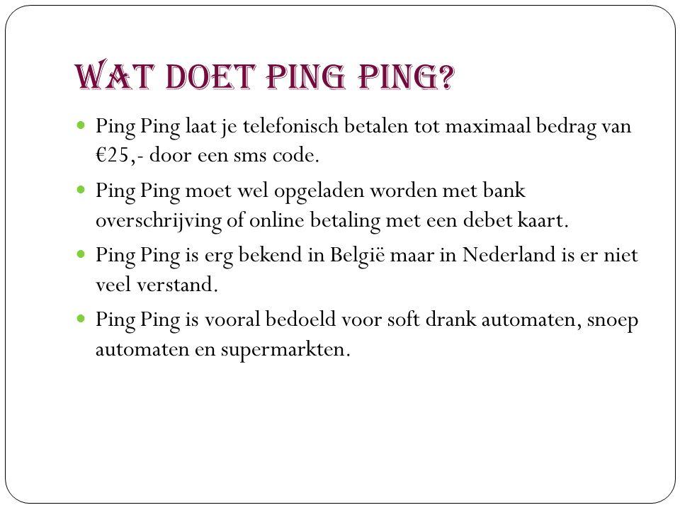 Wat is Ping Ping.