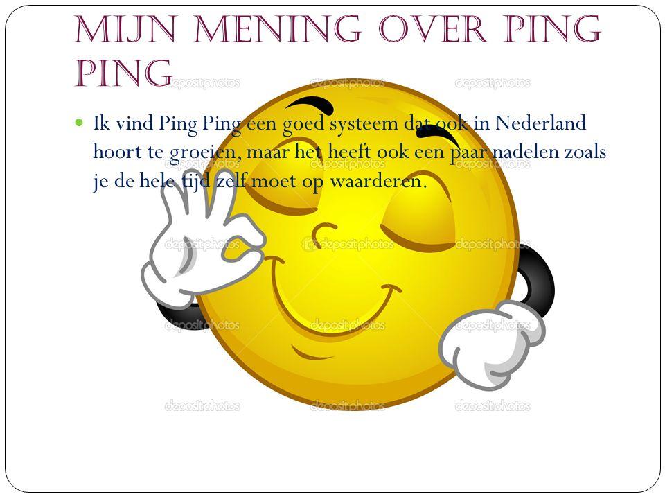 Voordelen/Nadelen van Ping Ping VoordelenNadelen Kinderen hoeven geen cash geld mee te nemen.