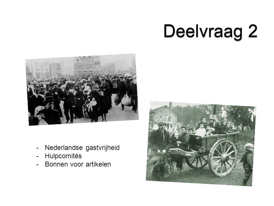 -Nederlandse gastvrijheid -Hulpcomités -Bonnen voor artikelen