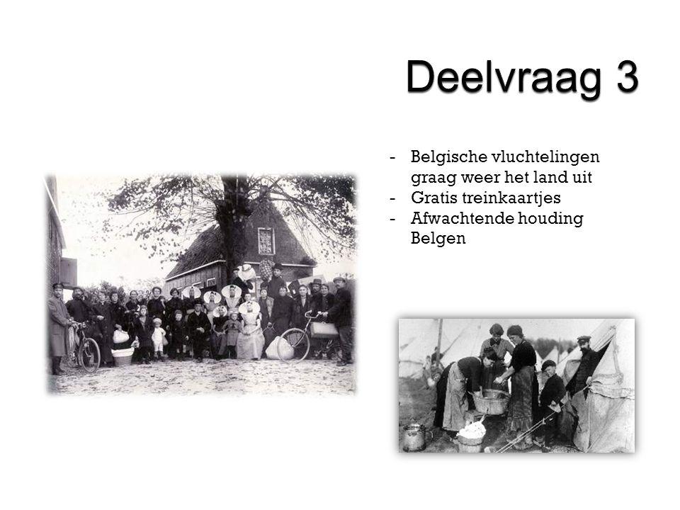 -Belgische vluchtelingen graag weer het land uit -Gratis treinkaartjes -Afwachtende houding Belgen
