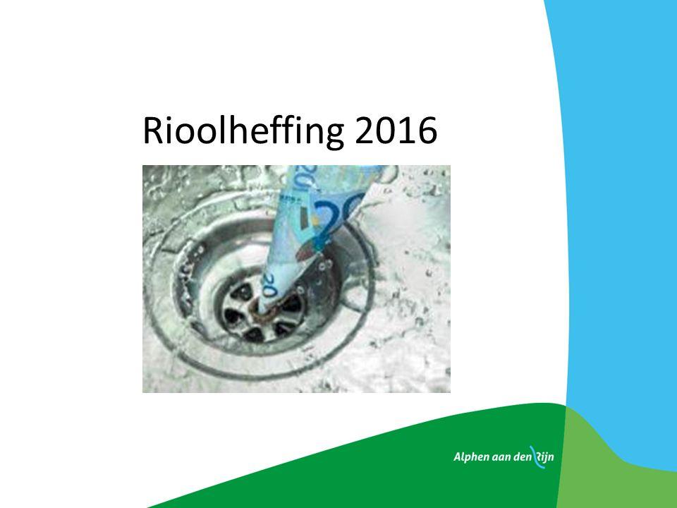 Rioolheffing 2016