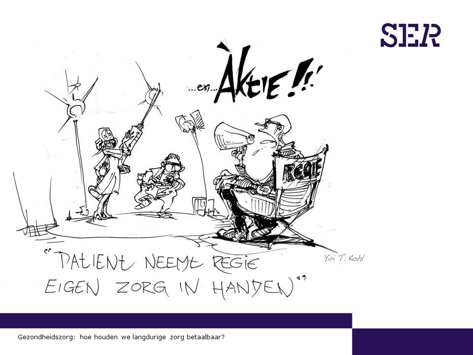 00-00-2009 | pagina 13/x | Afdeling Communicatie Gezondheidszorg: hoe houden we langdurige zorg betaalbaar?