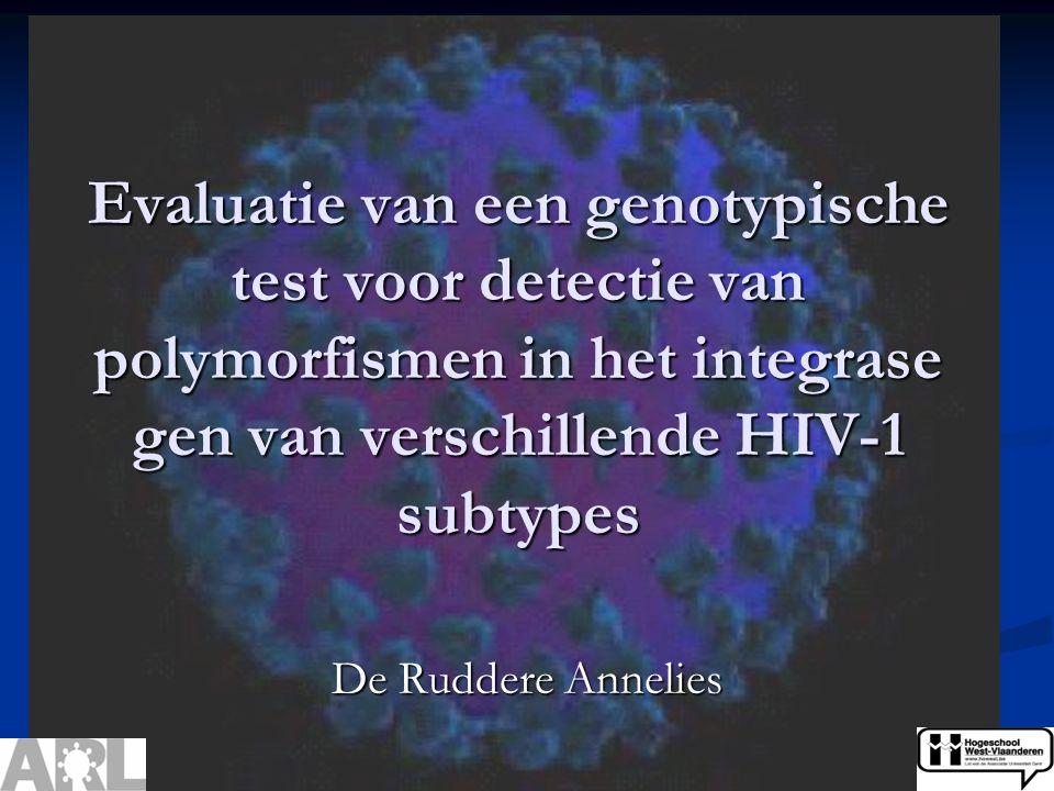 Evaluatie van een genotypische test voor detectie van polymorfismen in het integrase gen van verschillende HIV-1 subtypes De Ruddere Annelies