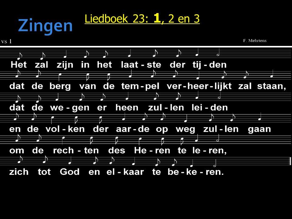 Liedboek 23: 1, 2 en 3