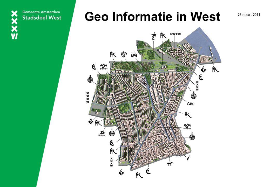 Geo Informatie in West 26 maart 2011