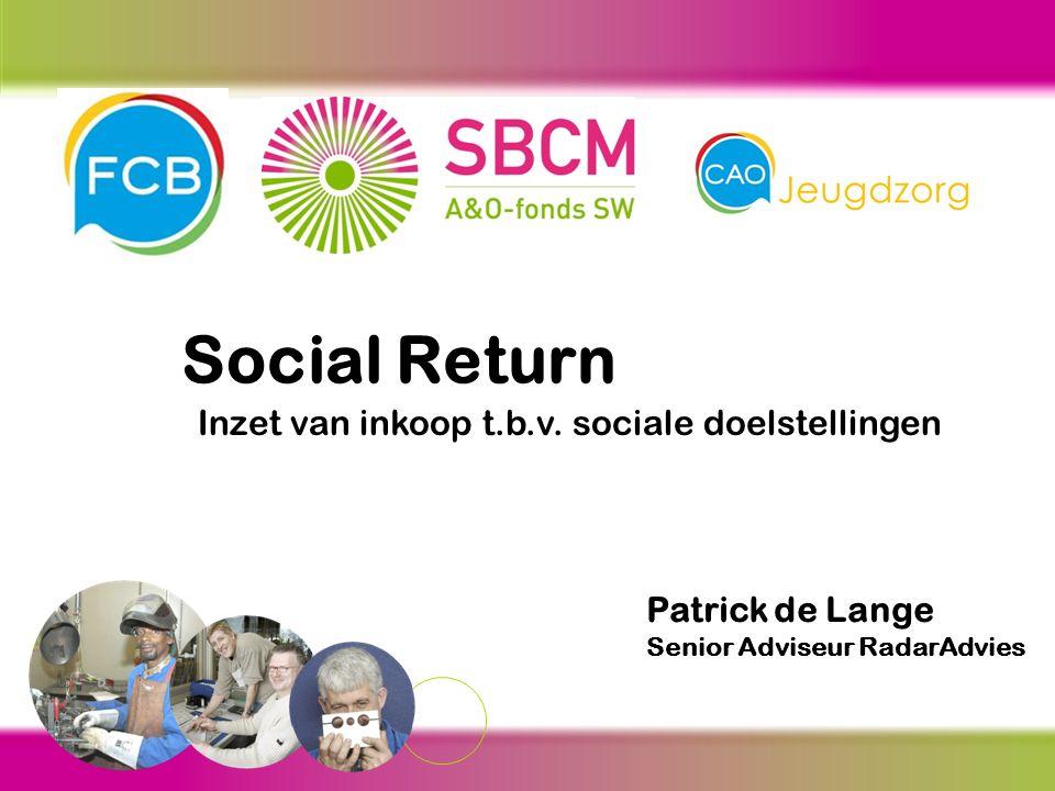 Social Return Inzet van inkoop t.b.v.
