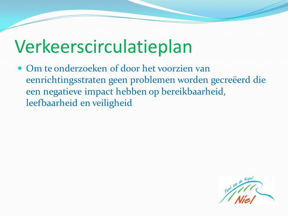 Verkeerscirculatieplan Om te onderzoeken of door het voorzien van eenrichtingsstraten geen problemen worden gecreëerd die een negatieve impact hebben op bereikbaarheid, leefbaarheid en veiligheid