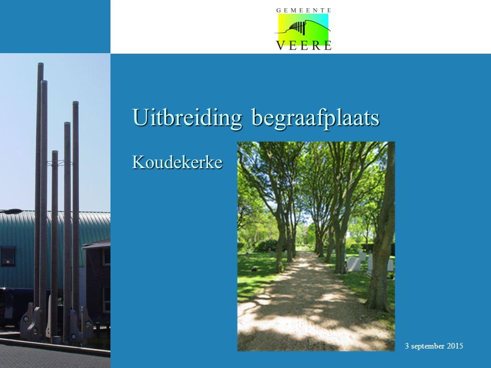Uitbreiding begraafplaats Koudekerke 3 september 2015