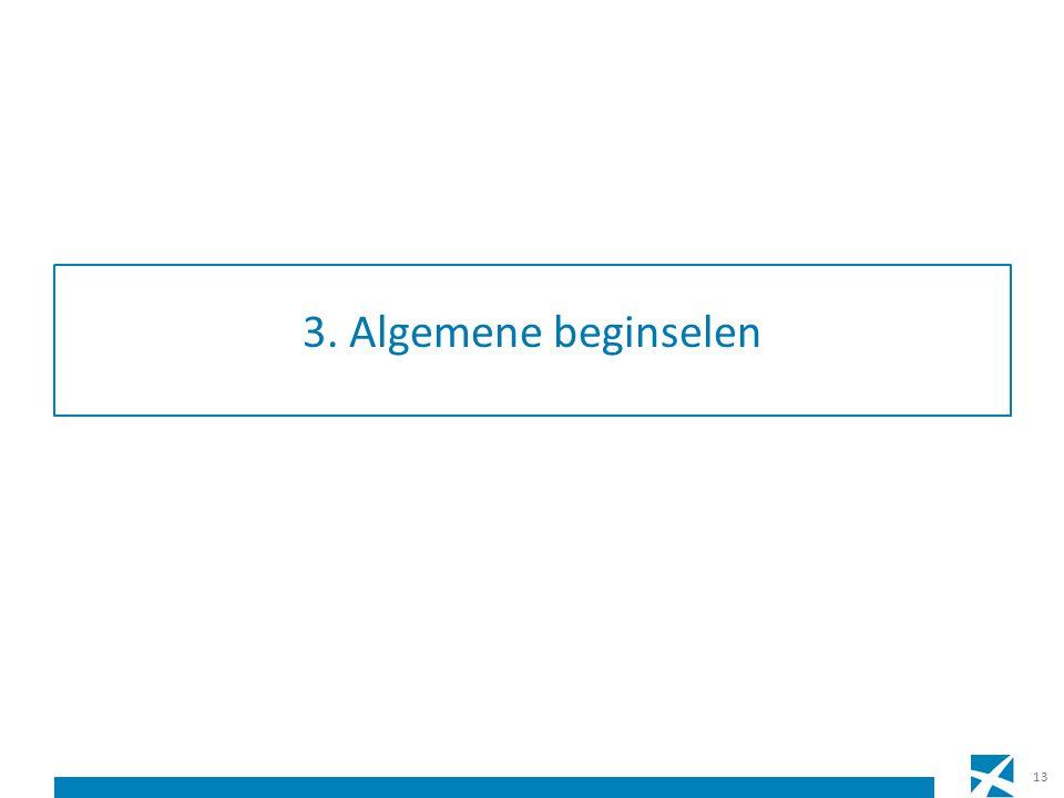 3. Algemene beginselen 13