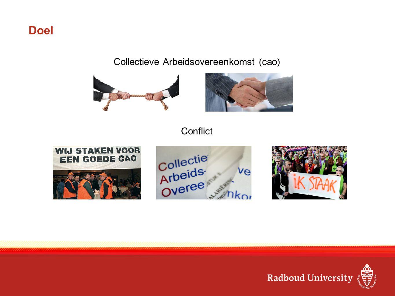Doel Collectieve Arbeidsovereenkomst (cao) Conflict
