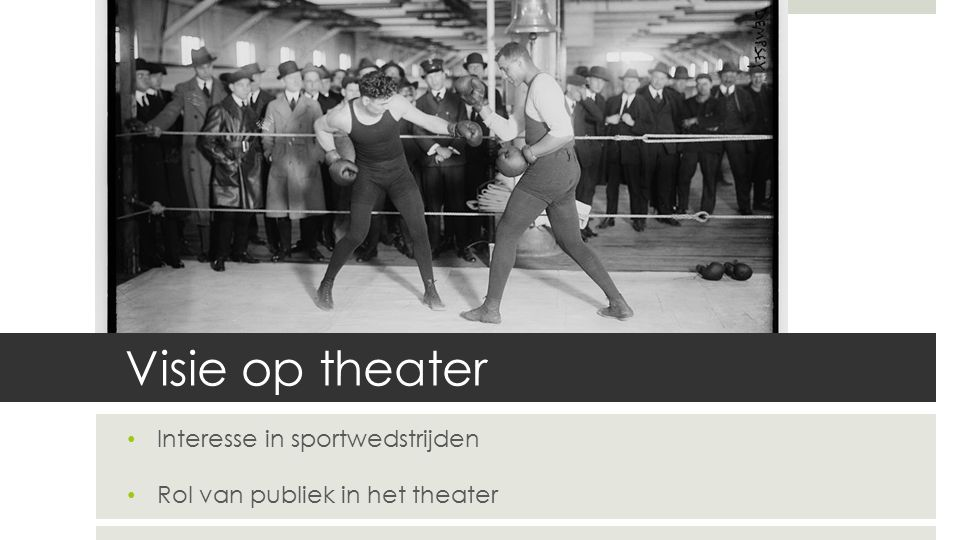 Episch Theater Menselijke en maatschappelijke verhoudingen blootleggen 'Vervreemdingseffecten' 4 e wand breekt weer open 'Leerstukken' 'Rise and Fall of the City of Mahagonny', 1930
