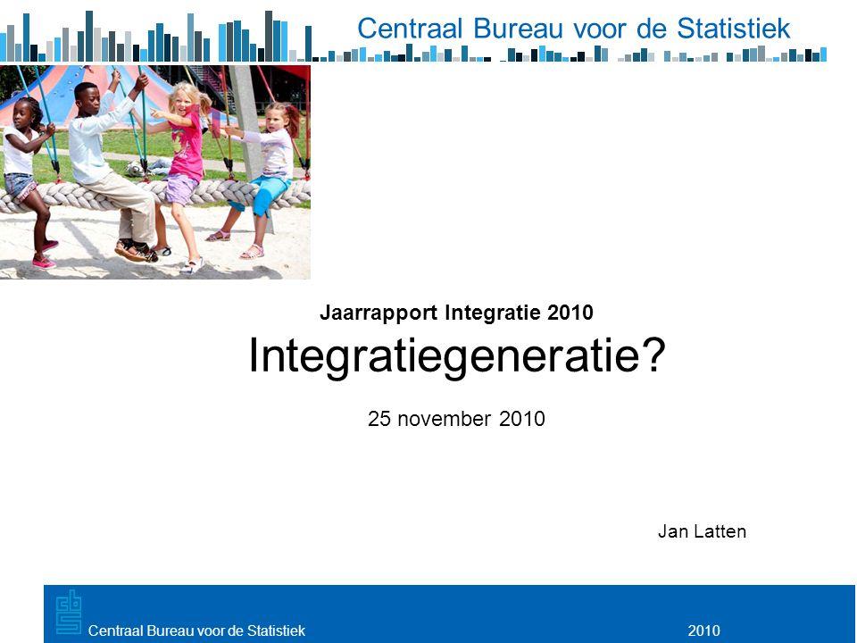 Utrecht, 20 februari 2009 2010Centraal Bureau voor de Statistiek Jaarrapport Integratie 2010 Integratiegeneratie? 25 november 2010 Jan Latten