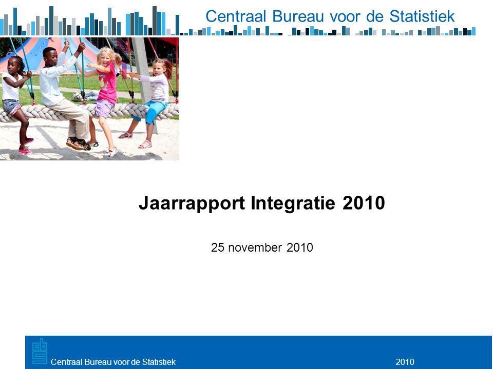 Utrecht, 20 februari 2009 2010Centraal Bureau voor de Statistiek Jaarrapport Integratie 2010 25 november 2010