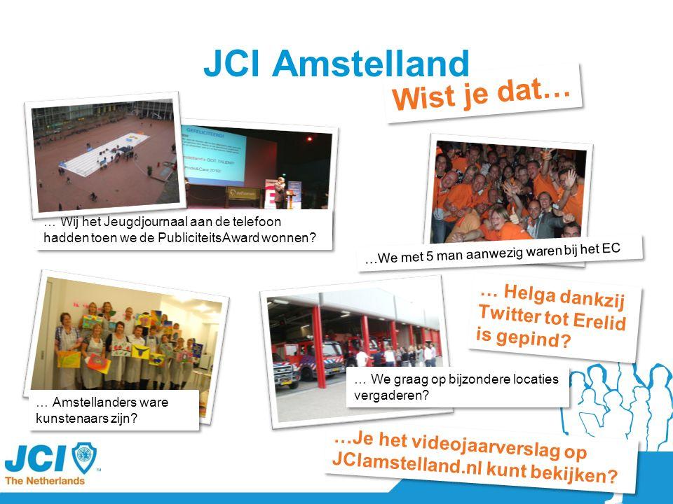Wist je dat… JCI Amstelland … Helga dankzij Twitter tot Erelid is gepind.