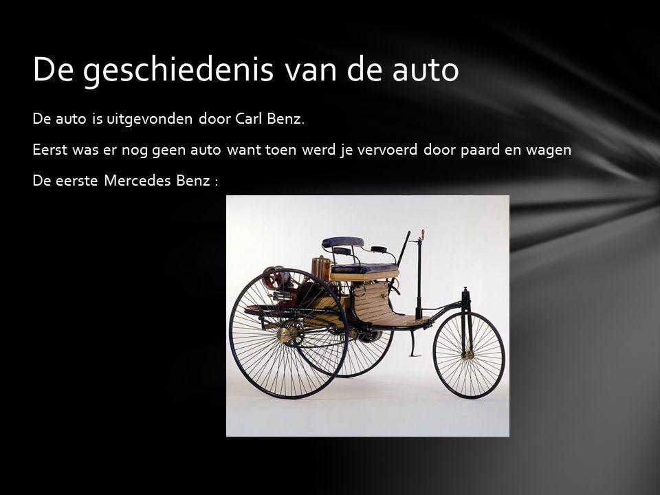 De auto is uitgevonden door Carl Benz.