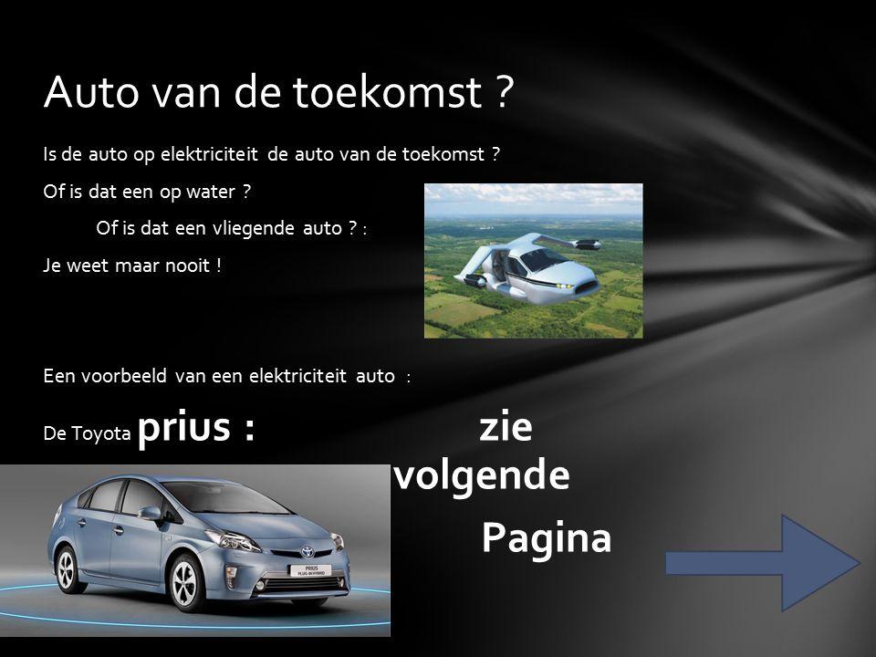 Is de auto op elektriciteit de auto van de toekomst .