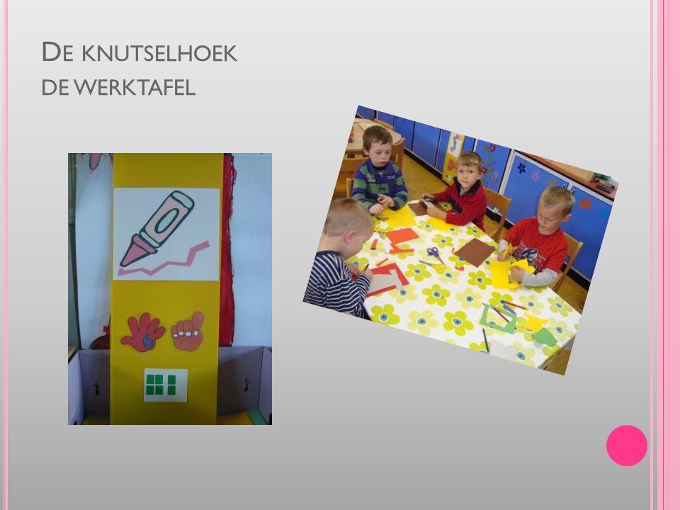 D E KNUTSELHOEK DE WERKTAFEL
