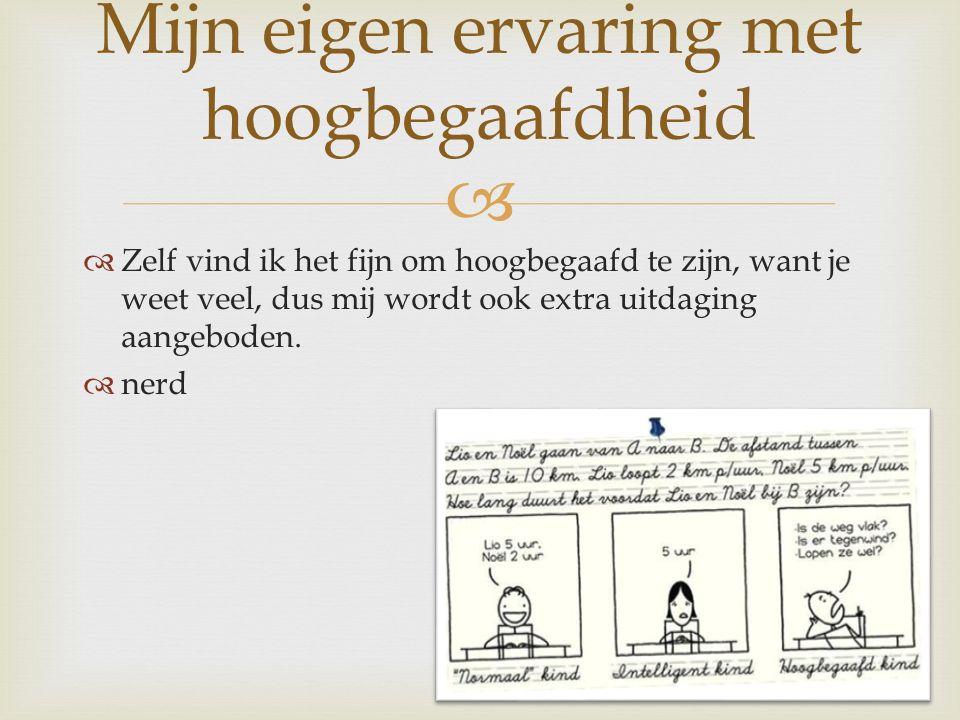  HHoogbegaafd zijn heeft positieve en negatieve kanten.