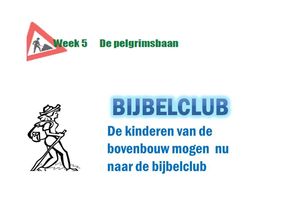 De kinderen van de bovenbouw mogen nu naar de bijbelclub