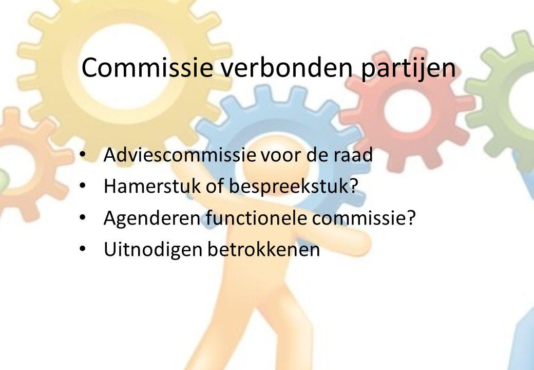 Commissie verbonden partijen Adviescommissie voor de raad Hamerstuk of bespreekstuk.