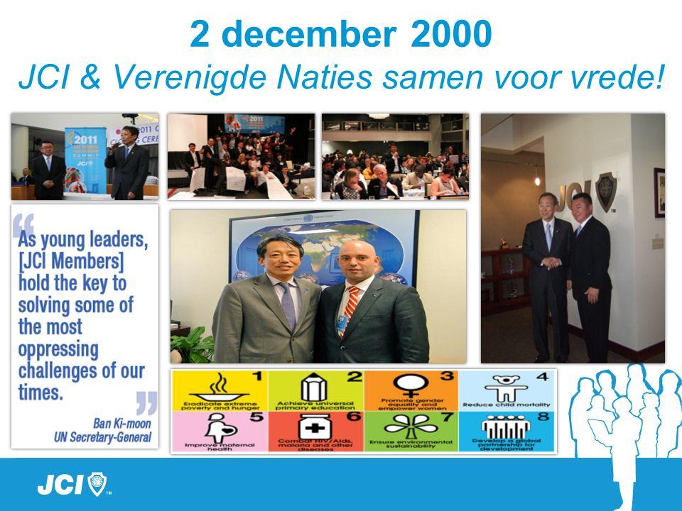 2 december 2000 JCI & Verenigde Naties samen voor vrede!