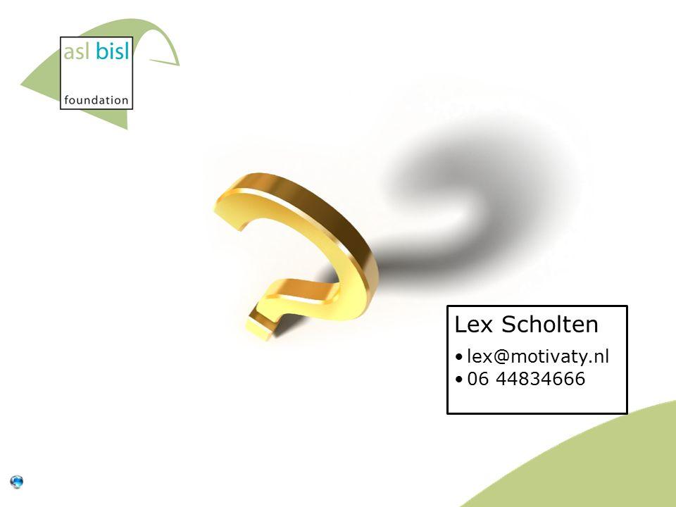 Lex Scholten lex@motivaty.nl 06 44834666