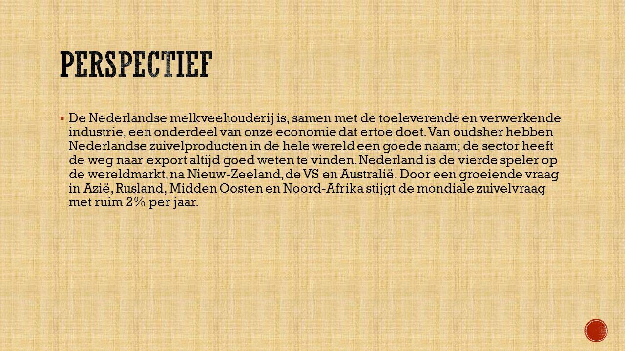  De Nederlandse melkveehouderij is, samen met de toeleverende en verwerkende industrie, een onderdeel van onze economie dat ertoe doet.