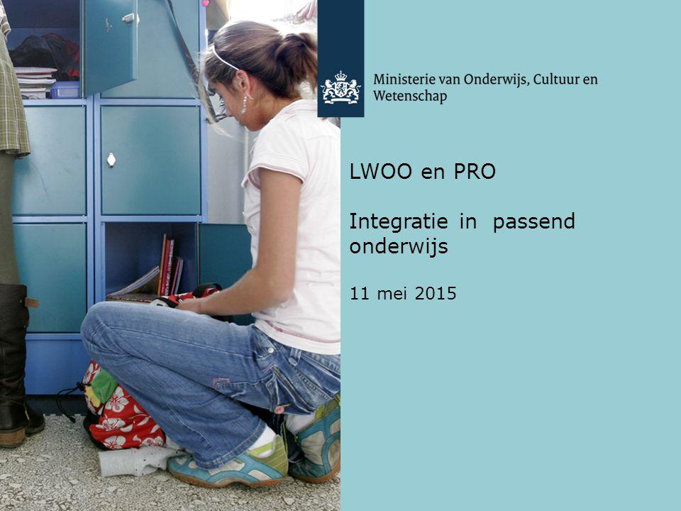 LWOO en PRO Integratie in passend onderwijs 11 mei 2015