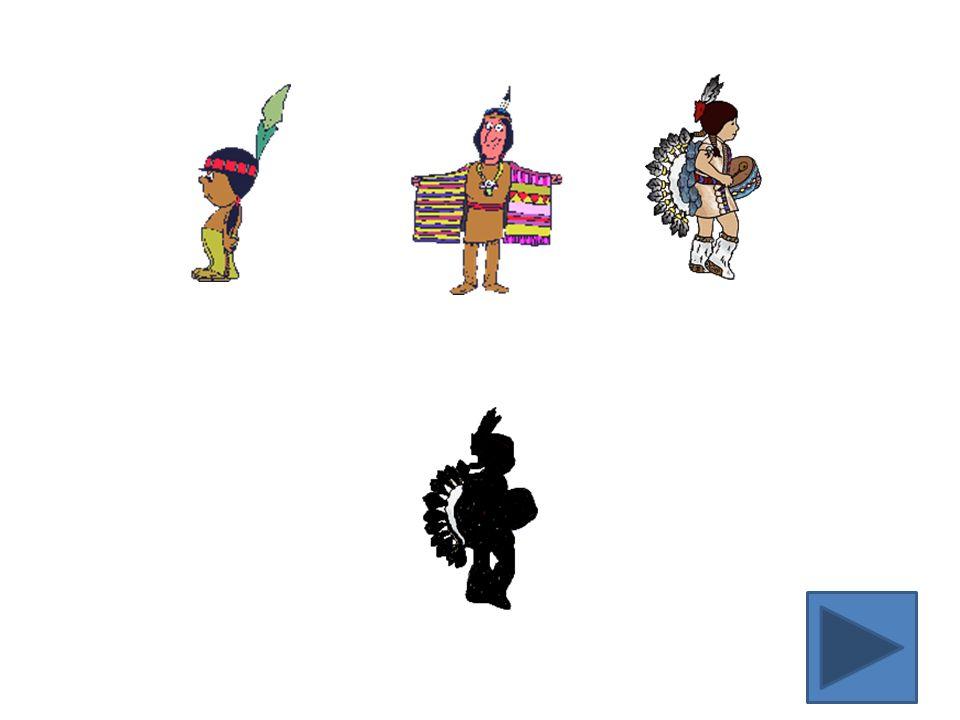 Er zijn 5 Indianen.Ze doen verstoppertje. Eén Indiaan verstopt zich in de wigwam.