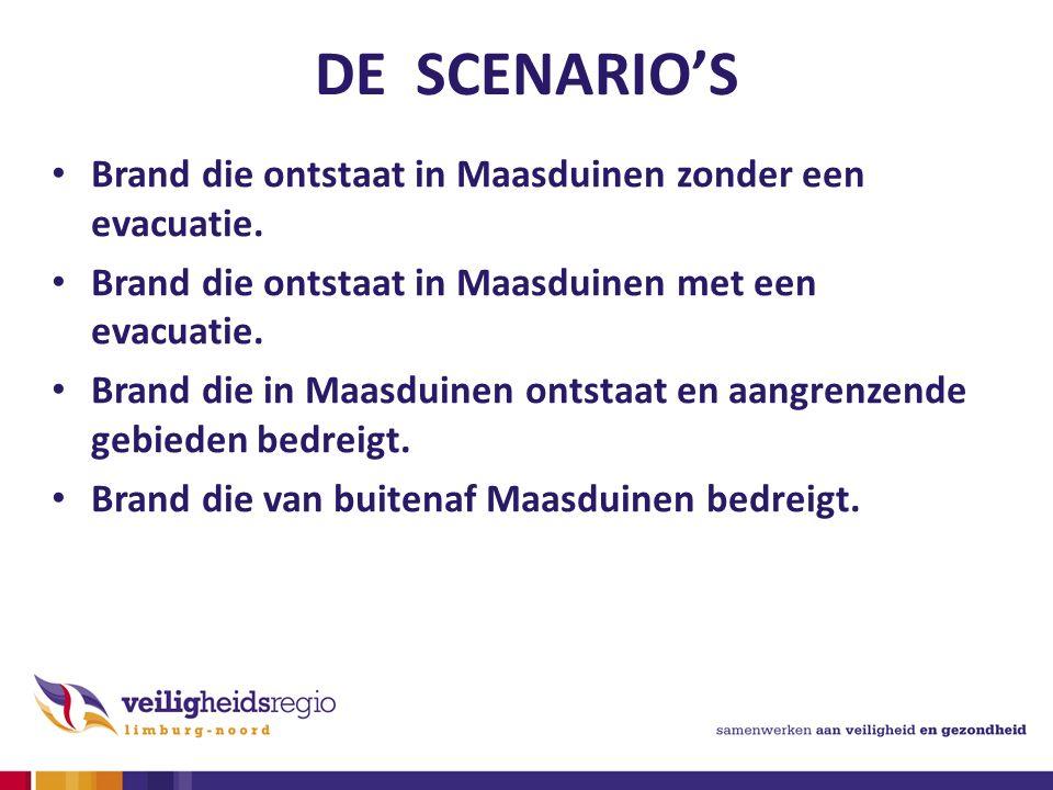 DE SCENARIO'S Brand die ontstaat in Maasduinen zonder een evacuatie.