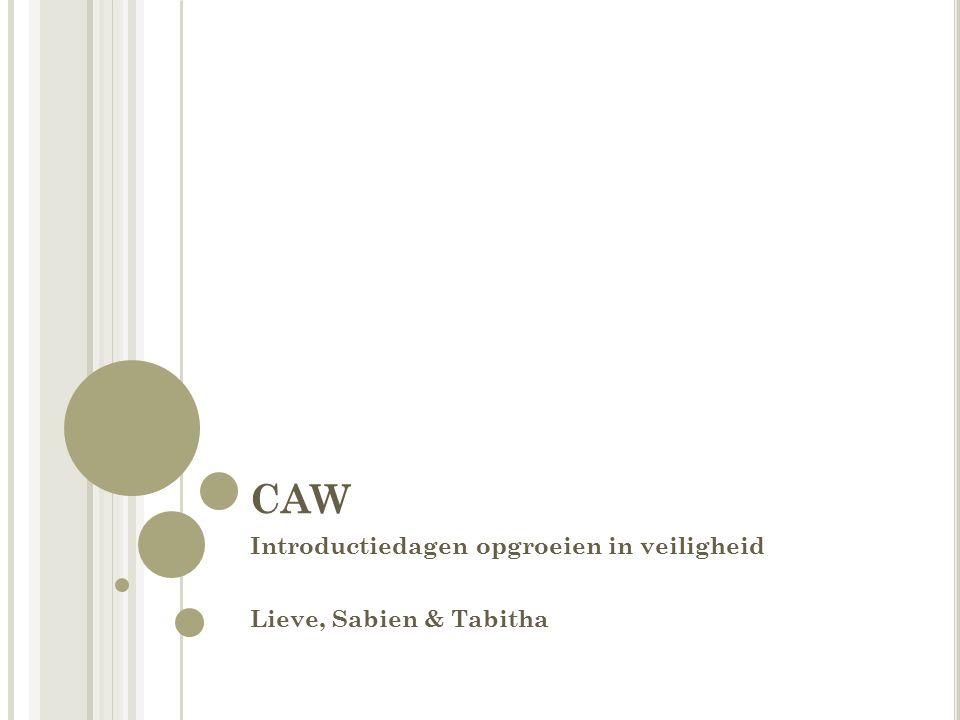 CAW Introductiedagen opgroeien in veiligheid Lieve, Sabien & Tabitha