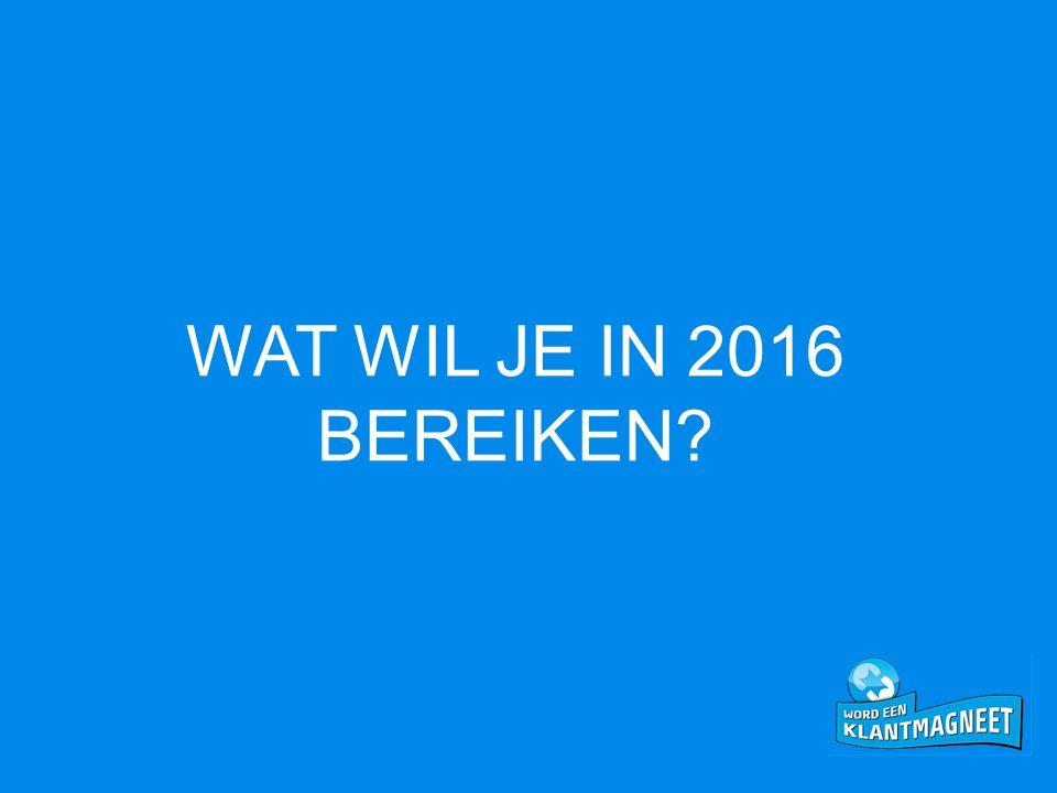 WAT WIL JE IN 2016 BEREIKEN?
