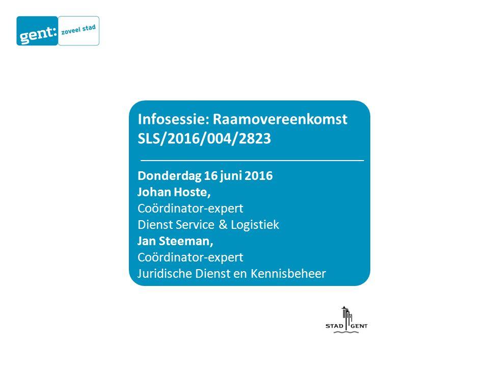 Contactpersoon Stad Gent Juridische Dienst & Kennisbeheer Contactpunt Overheidsopdrachten 09 266 77 80