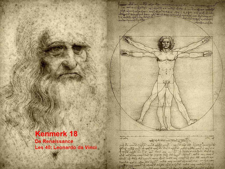 Kenmerk 18 De Renaissance Les 40: Leonardo da Vinci
