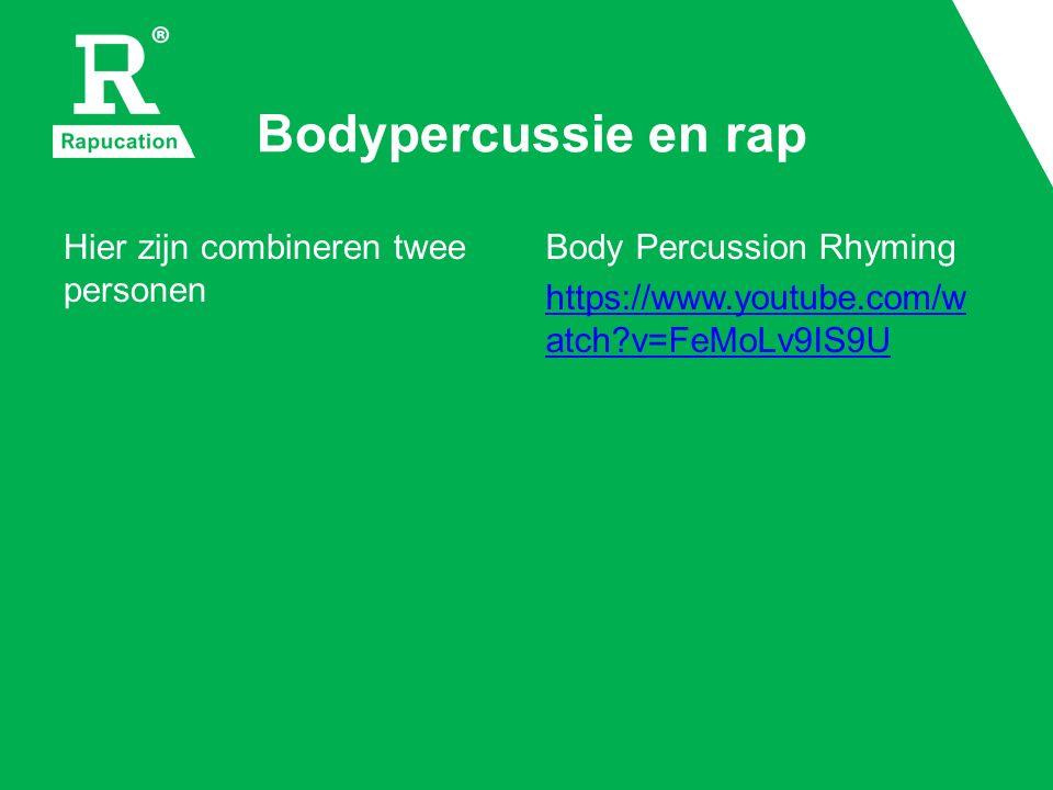 Samples reageren op bodypercussie De geluiden die de microfoon opvangt, sturen samples aan.