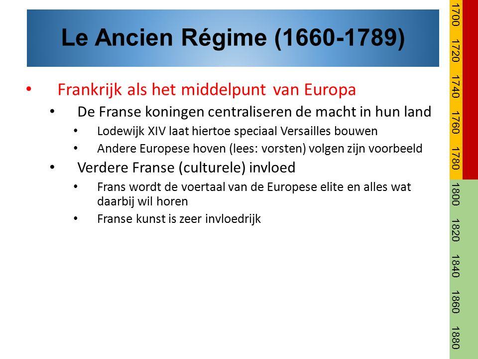 Frankrijk als het middelpunt van Europa De Franse koningen centraliseren de macht in hun land Lodewijk XIV laat hiertoe speciaal Versailles bouwen And