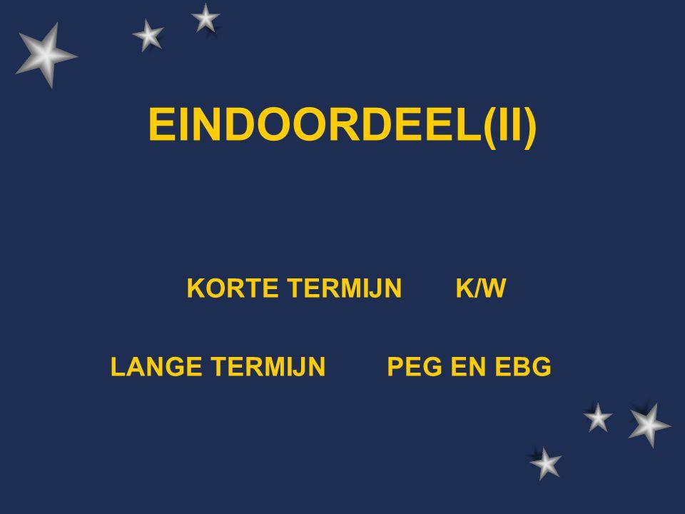 EINDOORDEEL(II) KORTE TERMIJN K/W LANGE TERMIJN PEG EN EBG