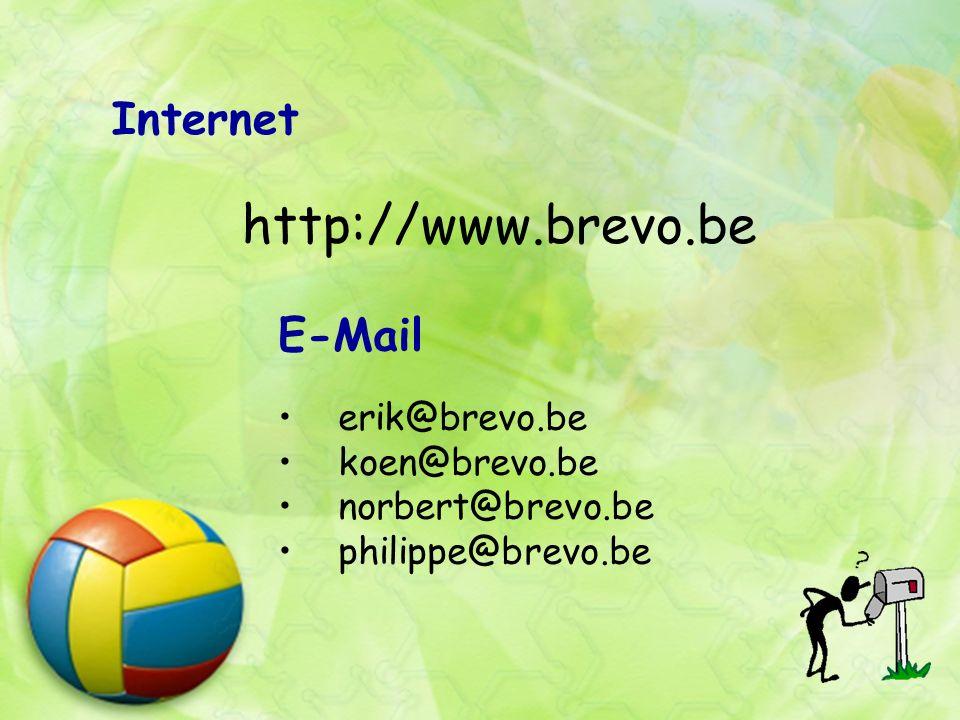 Internet http://www.brevo.be E-Mail erik@brevo.be koen@brevo.be norbert@brevo.be philippe@brevo.be