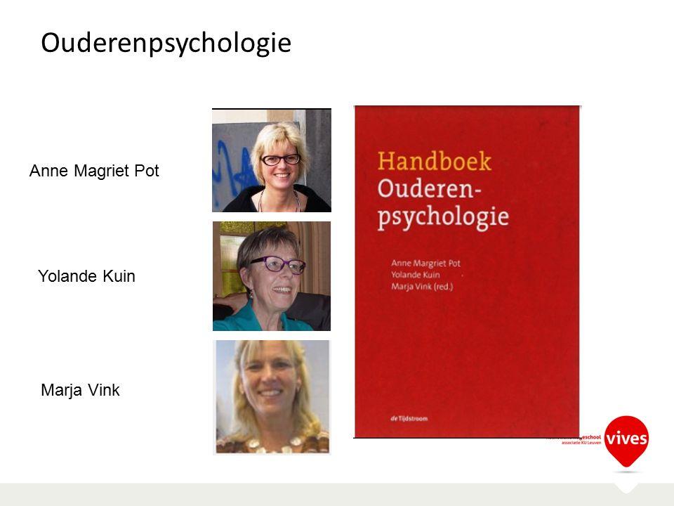 Ouderenpsychologie Anne Magriet Pot Yolande Kuin Marja Vink