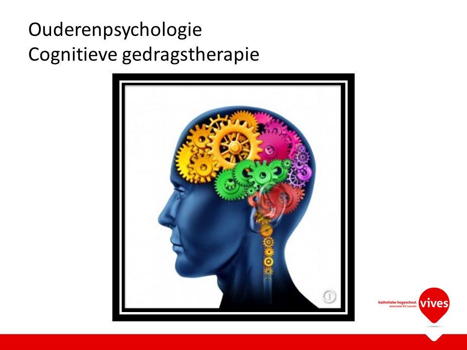 Ouderenpsychologie Cognitieve gedragstherapie